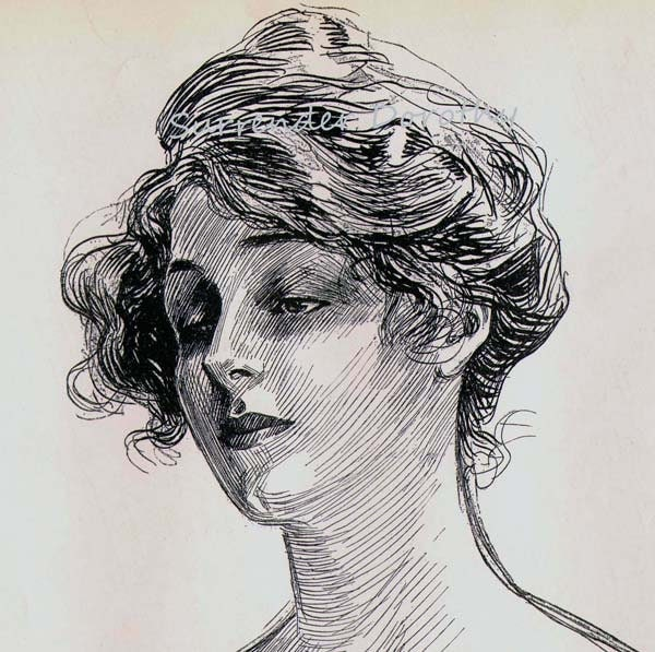Charles Dana Gibson Feminine Study 1906 Gibson Girl Vintage