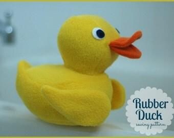 Plush Rubber Duck PDF Sewing Pattern