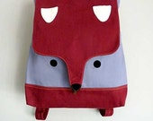 Backpack - The Fantastic Fox UNISEX BackPack (Burgundy Gray) *4 WEEKS TURNAROUND