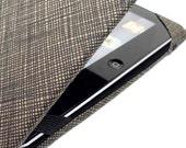 iPad Case - Tan Crosshatch - men's women's or unisex iPad cover neutral earth tones - gadget accessories tech lover