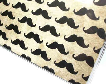 Checkbook Cover - Mighty Mustaches - moustache print vinyl checkbook holder - men's or unisex accessory