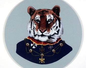 High Ranking Tiger Mouse Pad art by the Ryan Berkley Illustration oh yeah mousepad