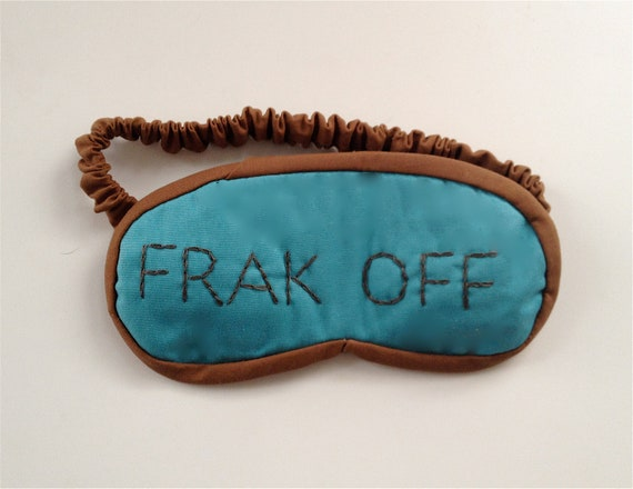 frak off sleep mask in turquoise and brown