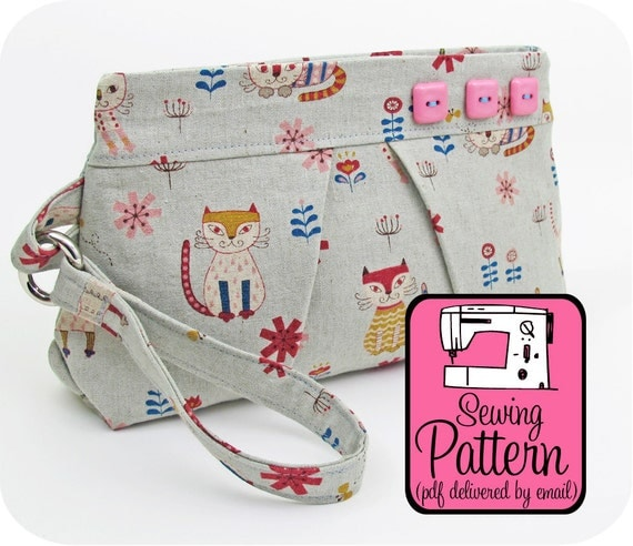 Pleated Wristlet Sewing Pattern - PDF Pattern (Instant Download)