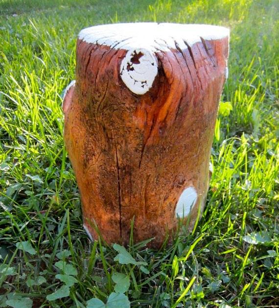 Child's Log Stump Stool