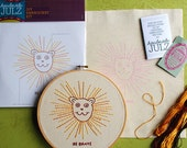 Be Brave Lion : DIY EMBROIDERY KIT
