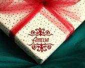 Items Similar To Set Of 6 Custom Gift Tags Vinyl Gift