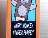 Angry Monkey Finger Puppet Mini Comic