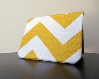 Card Wallet - Golden Yellow Chevron