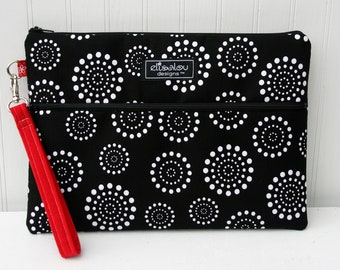 Apple iPad Padded Bag Pouch- Spiral Dot