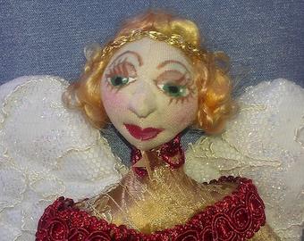 E-PATTERN,  ANGELI Di Natale- Hanging Christmas Ornaments, Pattern, Cloth Dolls, Christmas, Tutorial, DIY, bambole designs, Michelle Munzone