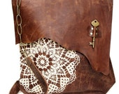 RESERVED for hollie27 - DEPOSIT  for XL Boho Leather Messenger Bag + Boxed Place Holder