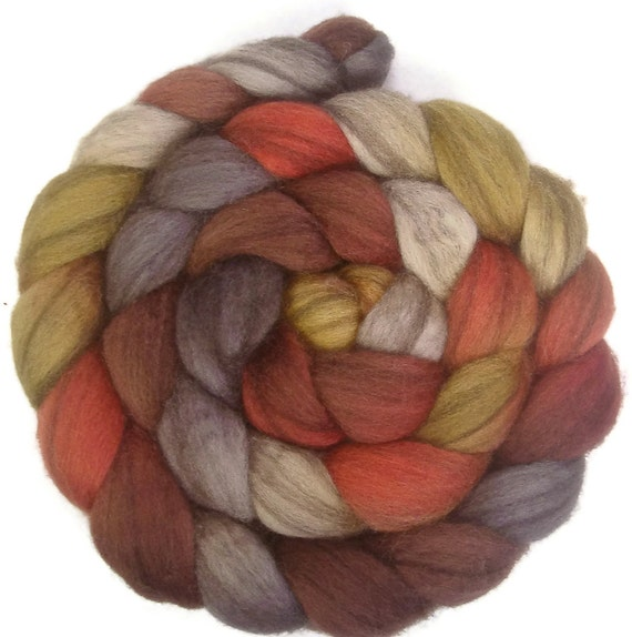 CTA SAL Special Edition Heathered BFL Wool Roving - 4 oz. Spice Market - Spinning Fiber