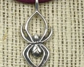 Spider, solid Sterling Silver,