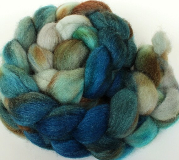 Bobtail -- dyed BFL silk top / roving (4.3 oz.)