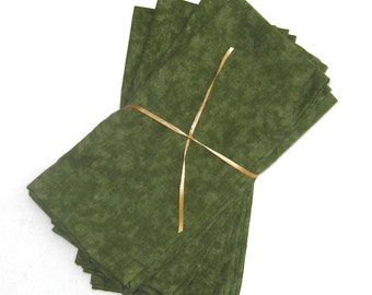 Olive or Sage Green Cloth Napkins Set of 4