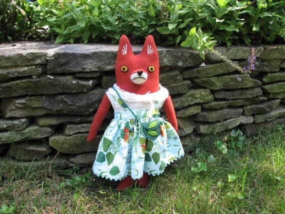 Fox Girl wool doll