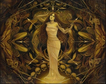 Goddess Art Eris Goddess of Chaos Discordia ACEO Mini Art Print