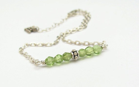 Peridot Bracelet Gemstone Sterling Silver Chain Friendship Stacking August Virgo Hawaiibeads