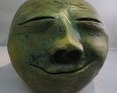 Ceramic Sculpture - medium smiley face