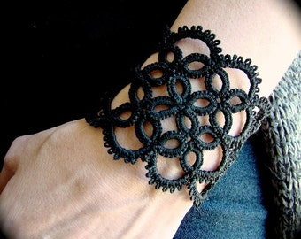 Tatted Lace Cuff Bracelet - Illusion