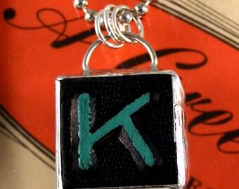 Letter K Initial Pendant Necklace