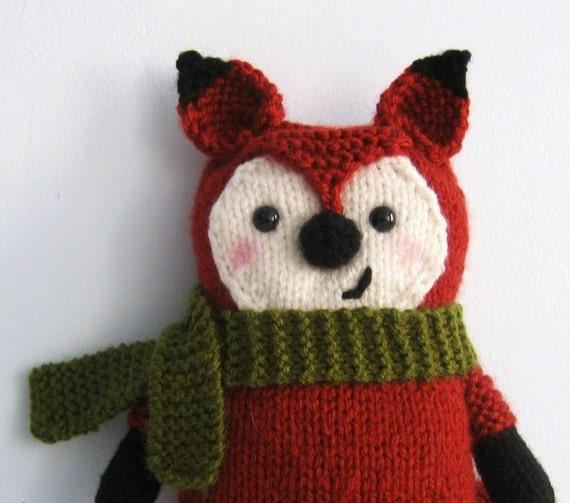 Amigurumi Knits Download : Amigurumi Knit Little Fox Pattern Digital Download by ...