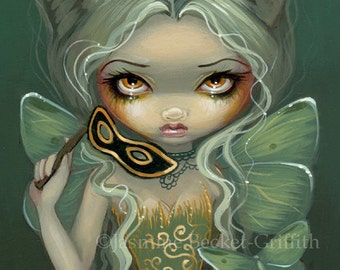 Masquerade of Moths mask nymph fairy art print by Jasmine Becket-Griffith 8x10