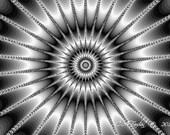 Fractal Art Digital Photo Print Sparkle Abstract 5 x 7