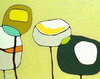 Poppies on Light Green - Archival Print