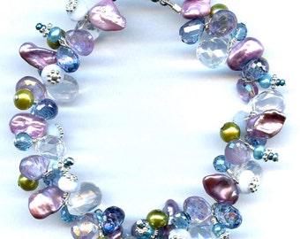Rose Amethyst And Multi Gem Bracelet FD702B