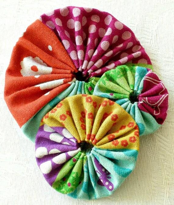 Hello Butterfly No 1 - japanese linen brooch