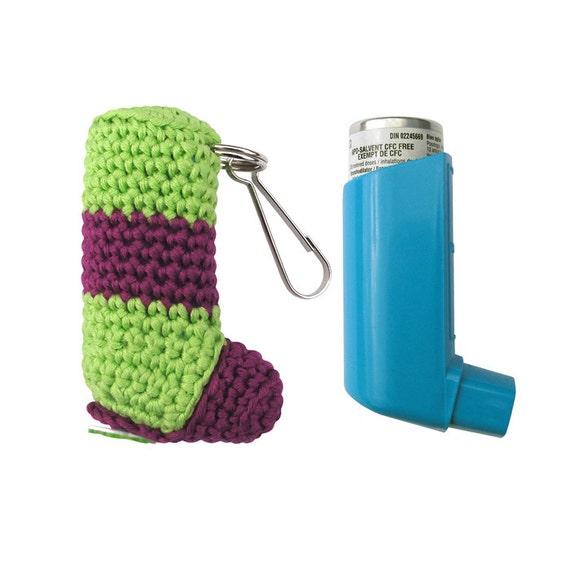Inhaler Holder, size A (W-IHA-005), women men kids accessory, asthma, inhaler case, inhaler cozy, puffer cozy, inhaler keychain