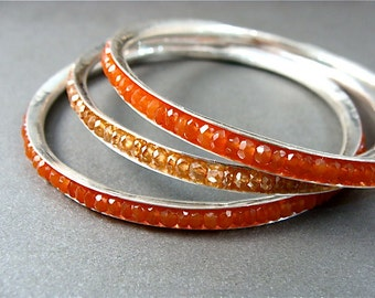 skinny carnelian  ... gemstone bangle