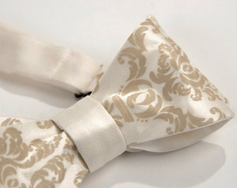 7 wedding bow ties. Groomsmen package discount, matching neckties. Choose from 100 colors and designs.