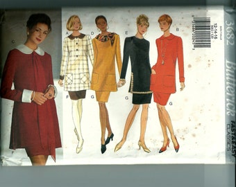 Butterick Misses' Tunic and Skirt Pattern 3682