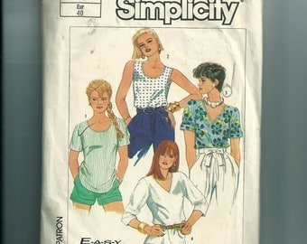 Vintage Simplicity Pullover Top Pattern 7468