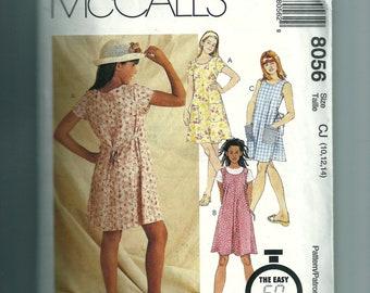 McCall's Girls' Dress or Jumper Pattern 8056
