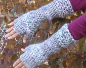 Arm Warmers - Fingerless Gloves - FUNKY CHUNKY - misty mountain hop