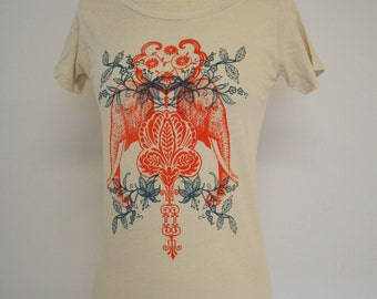 Moroccan Elephants Organic Scoop Neck Top