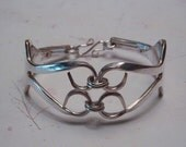 Silver Fork Bracelet Recycled Silverware Jewelry Bold Look Made to Order