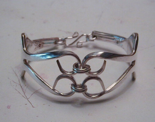 Fork Bracelet Recycled Silverware Jewelry Bold Look Made to