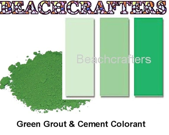 Green Grout Colorant : Green colorant for grout or cement oz great to use with