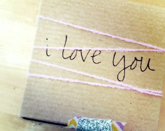 i love you  // gift wrap