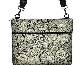 "13 inch Laptop Bag for MacBook Pro 13"" Case Sleeve Cover Mac Laptop Messenger Bag with Strap  - Vintage Paisley Onyx RTS"