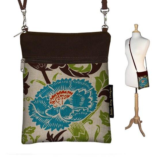 Sling Bag Shoulder Purse Cross Body Bag Travel Purse mini bag handbag - Art Nouveau Floral - In Stock