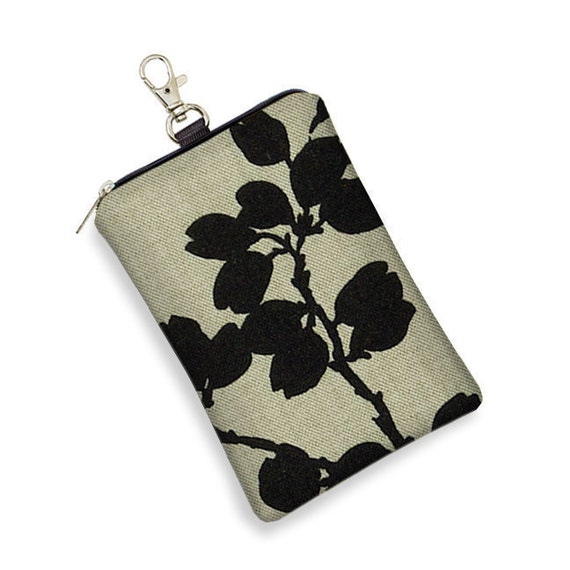 CLEARANCE Phone Case iPhone 5 Case iPod Case Large Cell Phone Case Blackberry Case Smartphone Case - Pods Black Floral (RTS)