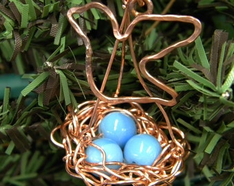 Copper Bird's Nest Ornament