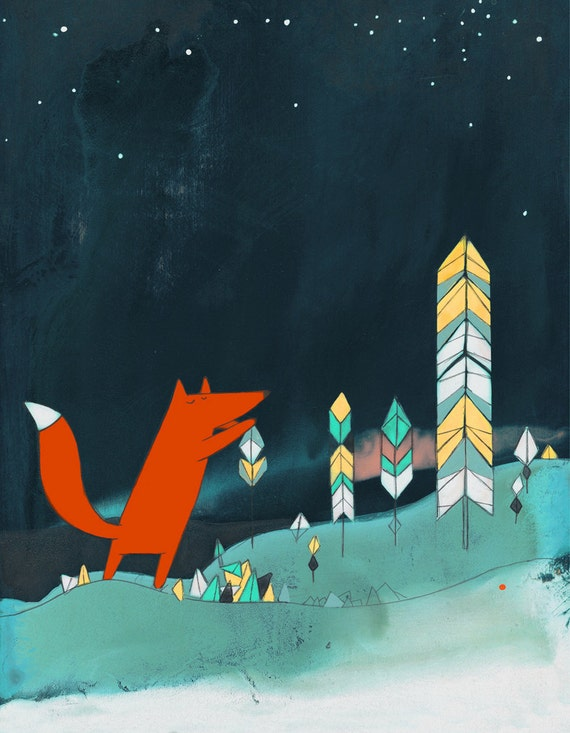 Mr. Fox Is Inspired - Signed Art Print