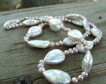 Pearl Petals Necklace- Freshwater Pearls